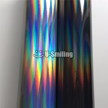 Laser Chrome Holographic Vinyl Wrap Film Foil For Car Wrapping Sticker Chameleon Vehicle Car Decal image