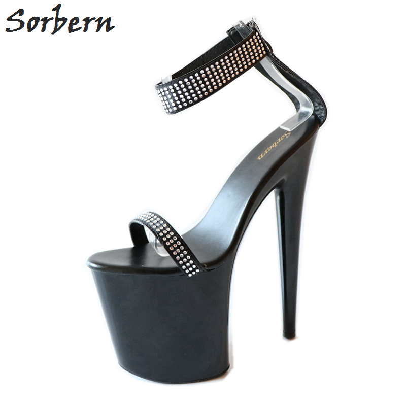 Sorbern Fashion Red Ankle Strap Sandals Women High Heels Summer Style Plus Size Shoes 20Cm Heels Us Size 10 Shoes For WomenSorbern Fashion Red Ankle Strap Sandals Women High Heels Summer Style Plus Size Shoes 20Cm Heels Us Size 10 Shoes For Women