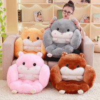 Cute Cartoon Plush Hamster Toy Stuffed Toy Pillow Soft Pillow Bedroom Decoration Girls Gift Chairs For Kids Children Gifts