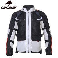 LYSCHY Enduro Riding Motorcycle Jacket Moto Body Armor Suit Coat Protection Man Clothing Reflective Equipment Men Racing Jackets