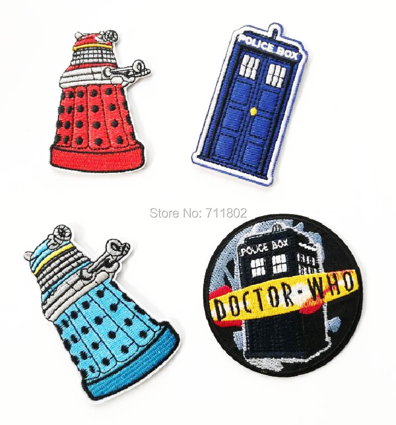 DOCTOR WHO TELEPHONE BOOTH  IRON ON PATCH NEW USA SELLER