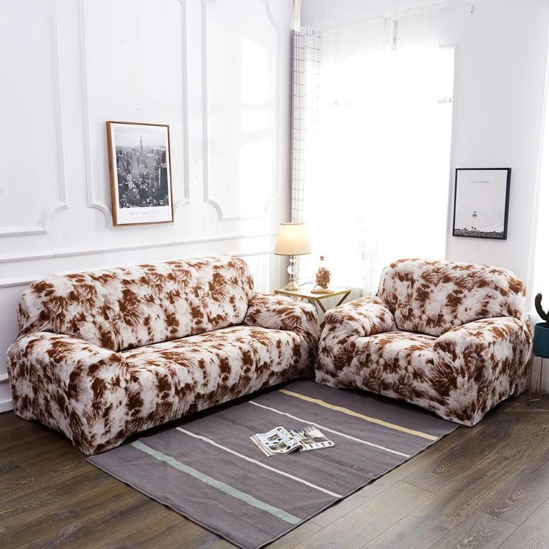Sofa Couch Slipcovers 1/2/3/4 Seater Sectional Sofa Covers Elastic Polyester Slipcover Chair Furniture Protector Housse De Canap