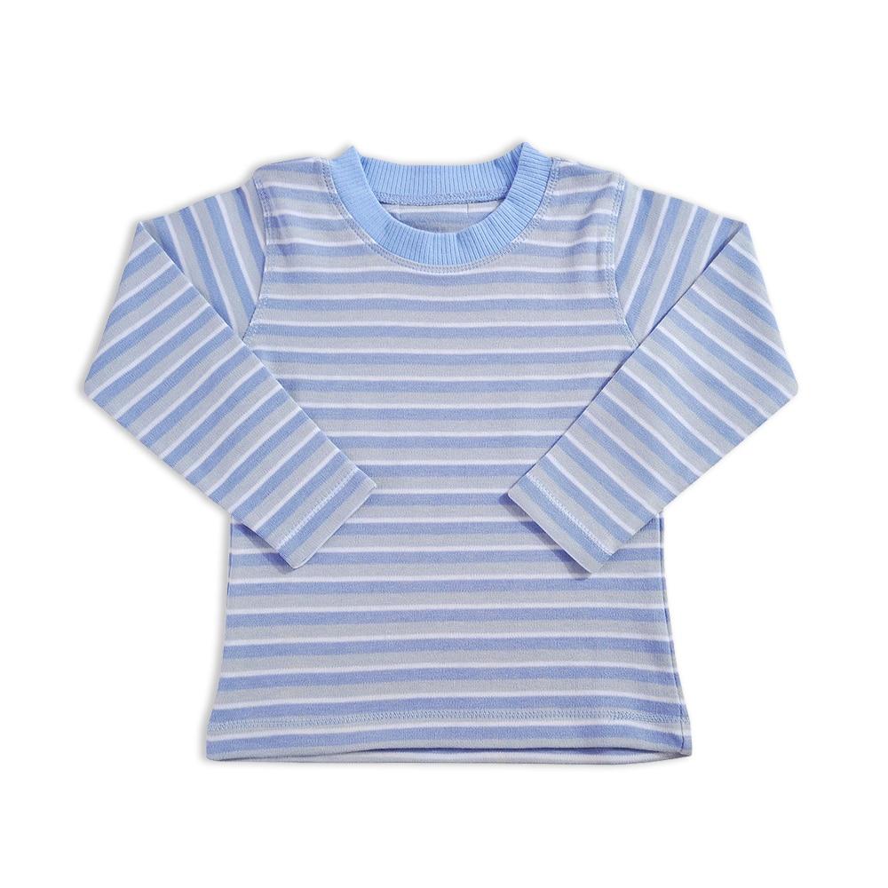 Baby Boys Striped T Shirt O Neck Tops Boy Polo Shirt - ტანსაცმელი ჩვილებისთვის - ფოტო 1