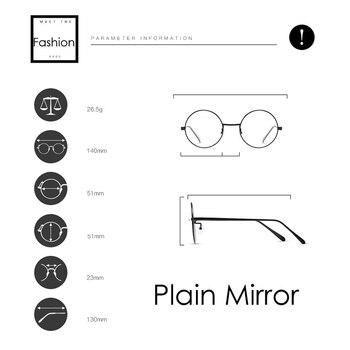 Zero Diopter Eyewear Upscale Round Glasses Frame 1