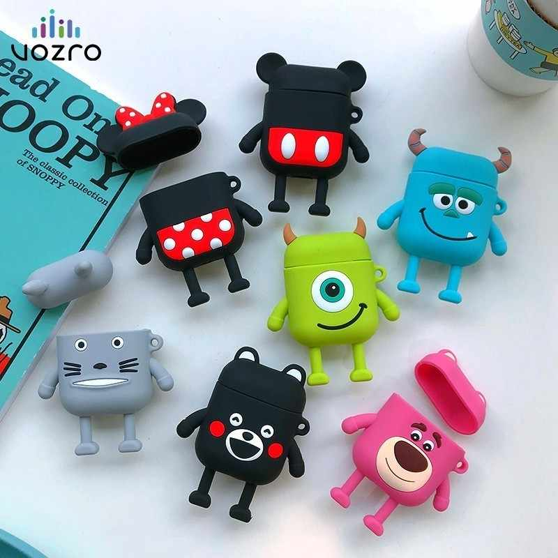 VOZRO Cartoon Wireless Bluetooth Earphone Case For Apple AirPods Silicone Charging Headphones Cases For Airpods2Protective Cover