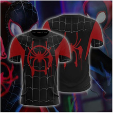 Spider-Man: Into the Spider-Verse Miles Morales Cosplay Unisex 3D T-shirt Compression Shirts 2019 Tops Male Comics Costume