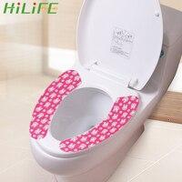 Hilife quente macio não-tecido tecidos banheiro closestool tampa de assento de toalete almofada 1 par tampa de assento de toalete decoração de casa