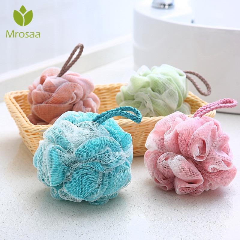 Bath & Shower Realistic 4pcs Bath Ball Cartoon Fruit Shaped Soft Mesh Sponge Bath Towel Shower Ball Mesh Pouf For Kids Adults