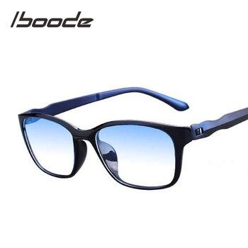 Iboode okuma gözlüğü erkekler Anti mavi ışınları presbiyopi gözlük Anti yorgunluk bilgisayar gözlük + 1.5 + 2.0 + 2.5 + 3.0 + 3.5 + 4.0
