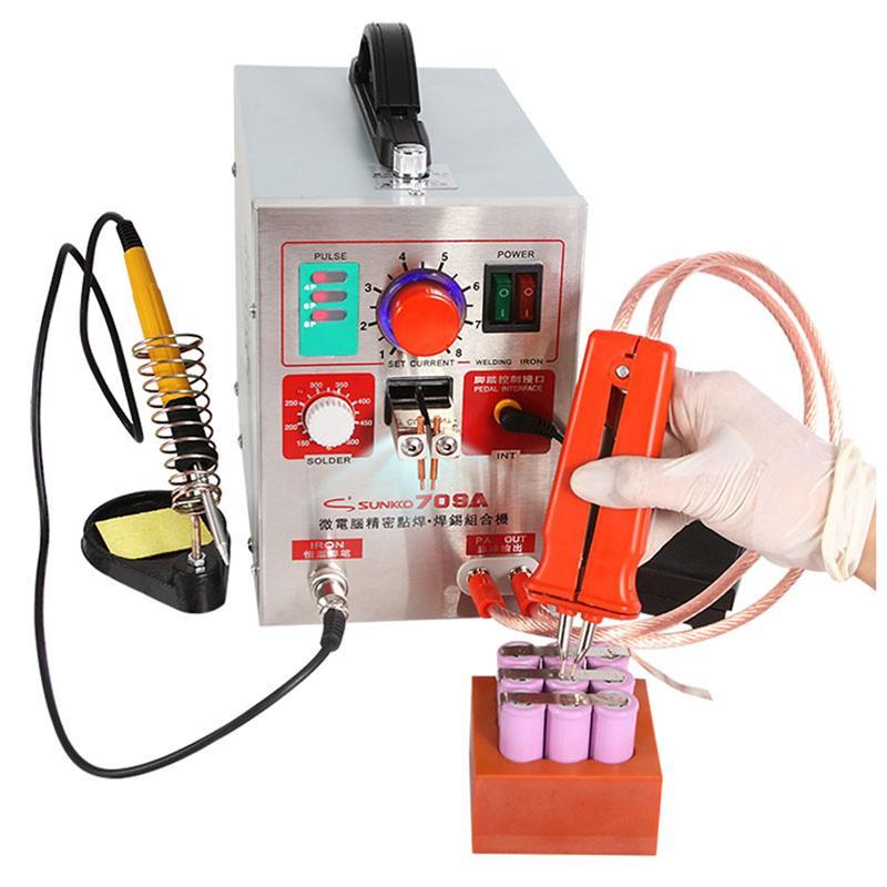 SUNKKO 709A 1.9KW 220V Spot Welders 2/4/6/8 Spot Welding Machine For 18650 Battery Pack Circuit Board Solder