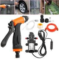 12V 60W Electric High Pressure Self priming Car Wash Washer Water Pump Auto Washing Car Washer Gun/ Pump High Pressure Cleaner