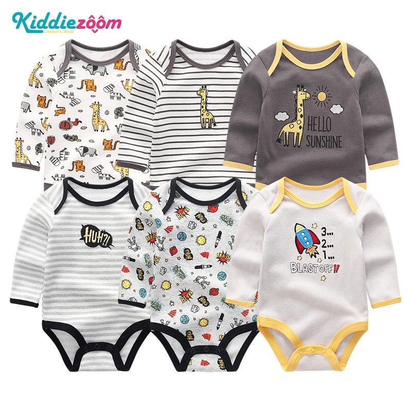 Image 3 - Одежда для маленьких девочек, боди с единорогами, одежда для маленьких мальчиков 0 12 месяцев, комбинезон в полоску, хлопковая одежда для новорожденных, одежда для девочекБоди для малышек   -