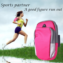 Sports Running Armband Cover For running arm band holder of the phone on case for 4-6 inch universal bag