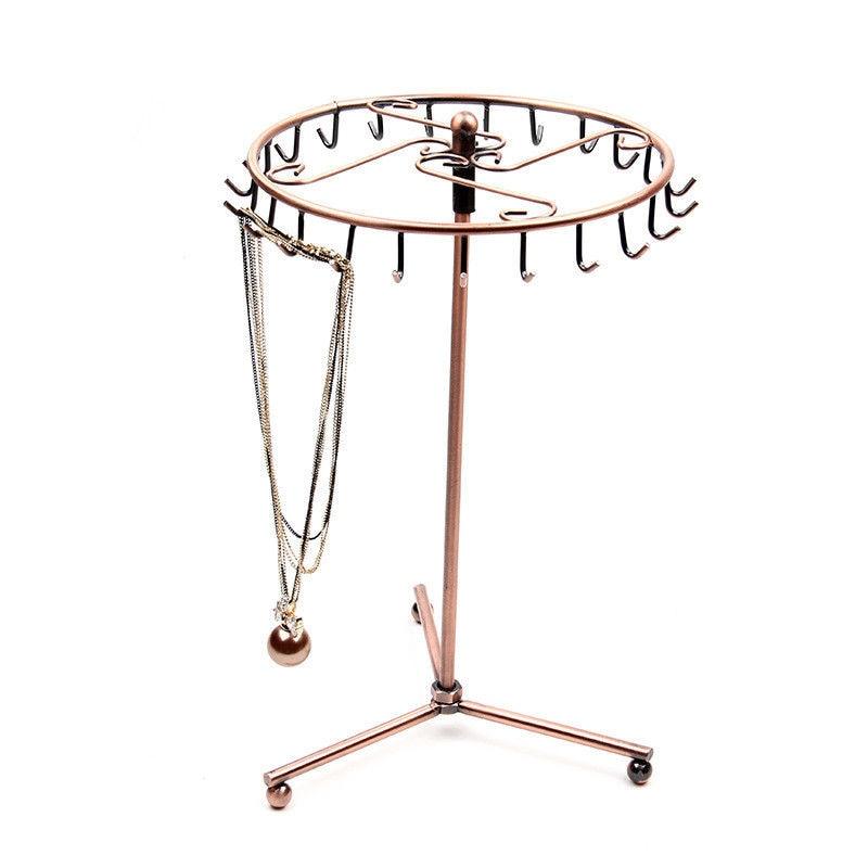 Pendant Bracelet Necklace Jewelry Storage Organizer Jewelry Holder Display Rotate Metal Shelf Hanger Ring Jewelry Display Stand