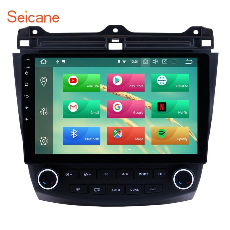 Seicane 10.1 Android 9.0 lecteur multimédia de voiture Navigation GPS pour 2003-2007 Honda Accord 7 8-Core Support commande au volant