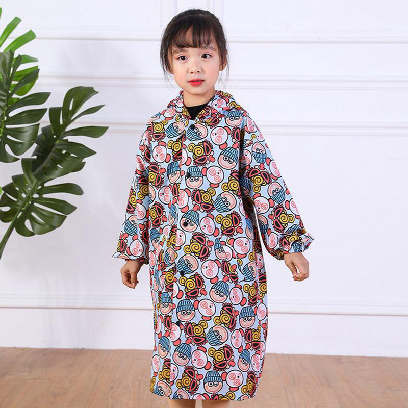 Waterproof Raincoat For Children Boys Cartoon Car Kids Girls Breathable and comfortable Rainwear Baby Raincoat For Tour