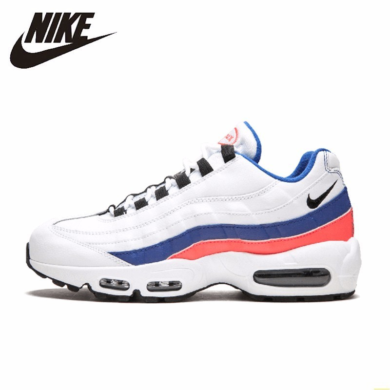 arrives ebac6 95e55 US $70.99 69% OFF|Nike Air Max 95 Essential White Blue Men Running Shoes  Leisure Time Air Cushion Comfortable Sneakers#749766 106-in Running Shoes  ...