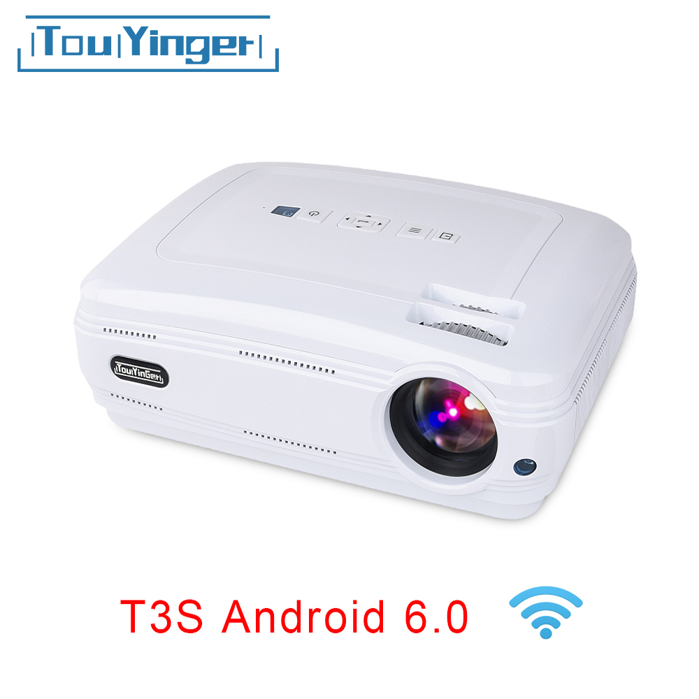 Touyinger T3 Video Projector 3500 Lumens videoprojecteur Android Bluetooth Beamer LED TV Home Theater support 1080P