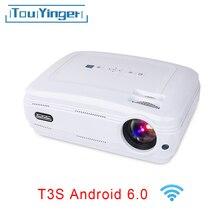 Touyinger T3 Video proyector 3500 lúmenes videoproyector portátil (Android Bluetooth) beamer TV LED de cine en casa de apoyo 1080 P Full HD