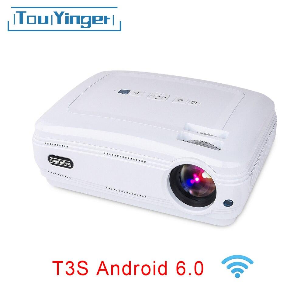 Touyinger T3 vidéoprojecteur Projetor de Vídeo 3500 Lumens (Android Bluetooth) beamer LEVOU TV Home Theater suporte 1080 P Full HD