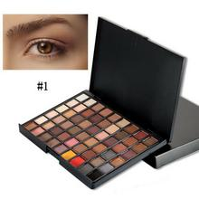 stylish New Professional Makeup 54 Colors Eyeshadow Palette  All skin types Shimmer colors Multicolor Black Plastic charm