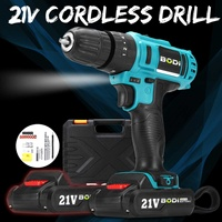 21V Double Speed LED Light Electric Screwdriver Cordless Drills Wireless Rechargeable Battery Driver Parafusadeira Power Tool