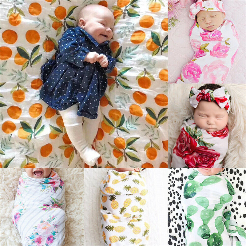 PUDCOCO Hot Fashion Soft Baby Infant Newborn Boy Girl Floral Swaddle Wrap Blanket Lovely Sleeping Bag Cloth in Blanket Swaddling from Mother Kids