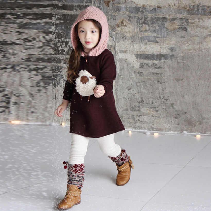 Winter Warm Baby Meisjes Jassen Warm Plus Fluwelen Dikker Meisjes Winter Bovenkleding Prinses Hooded Kinderen Jas Kinderkleding