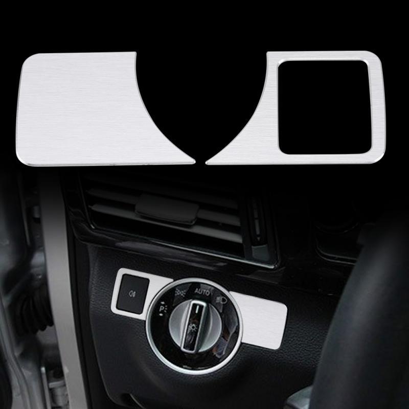 Car Window Switch Buttons Sticker Knob Cover Trim fit For Benz GLC C E A B