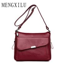 Retro Women Messenger Bag 2019 Vintage Women Crossbody Shoulder Bags for Women High Quality PU Leather Bag Female Bolsa Feminina цена и фото