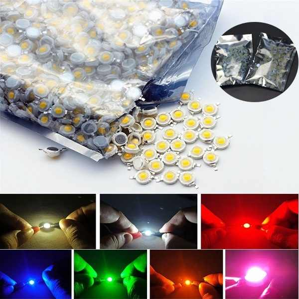 10Pcs/lot Excellent Useful High Power Light Emitting Diodes Spot Light Mini Lamp LED Bulb For DIY RGB 1W