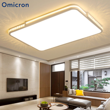 Omicron Modern Led Square Ceiling Light For Living Room Bedroom Study Crystal Acrylic Home Decor Lamp Avize