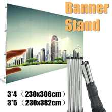 2 Size Poster Retractable Backdrop Display Stand Tradeshow Wall Media Portable Wedding Tension Fabric Banner Exhibition Booth(China)