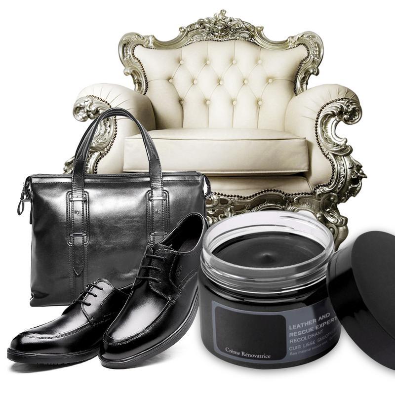 Mini Color Paste Leather Shoe Polish 50 ML Refurbished Changing Agent Matching Polishing Performance Black White