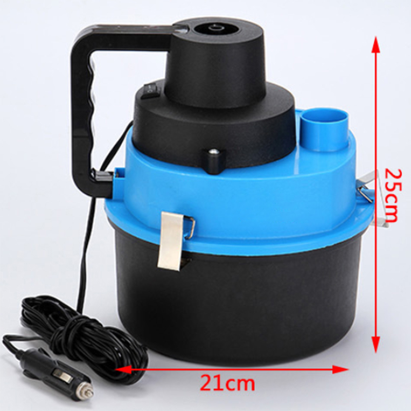 Car Portable Vacuum Cleaner Wet And Dry Vacuum Cleaner Dust Brush Cleaner Complete With Convenient Attachment And Washable Filte