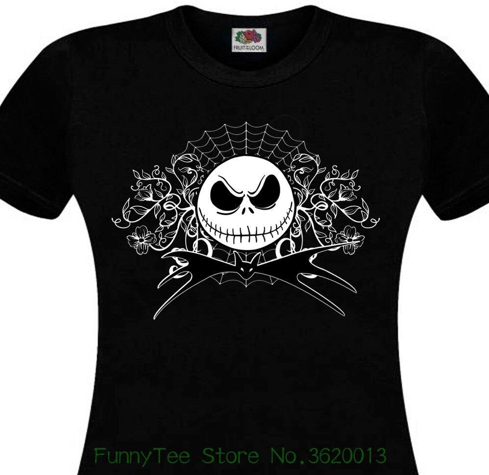 Women\'s Tee T shirt Femme Mr Jack Tim Burton Nightmare Before ...