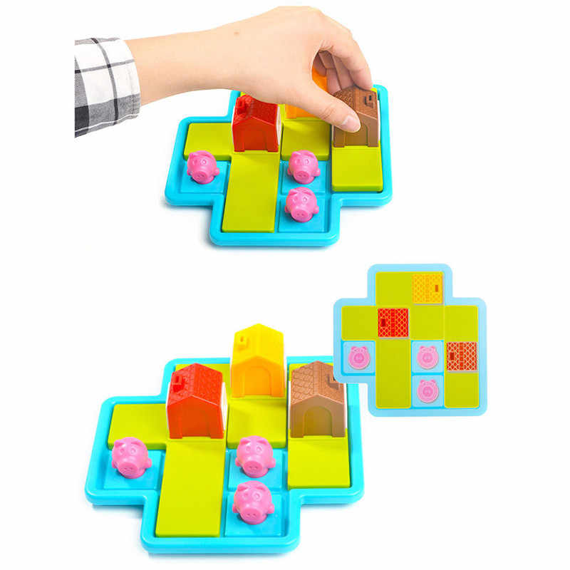 Kinder Block Bunte Bord Spiel Herausforderung Drei Kleine Schweine Für Kinder Weihnachten Geschenk Pädagogische Intelligenz Spielzeug Kunststoff