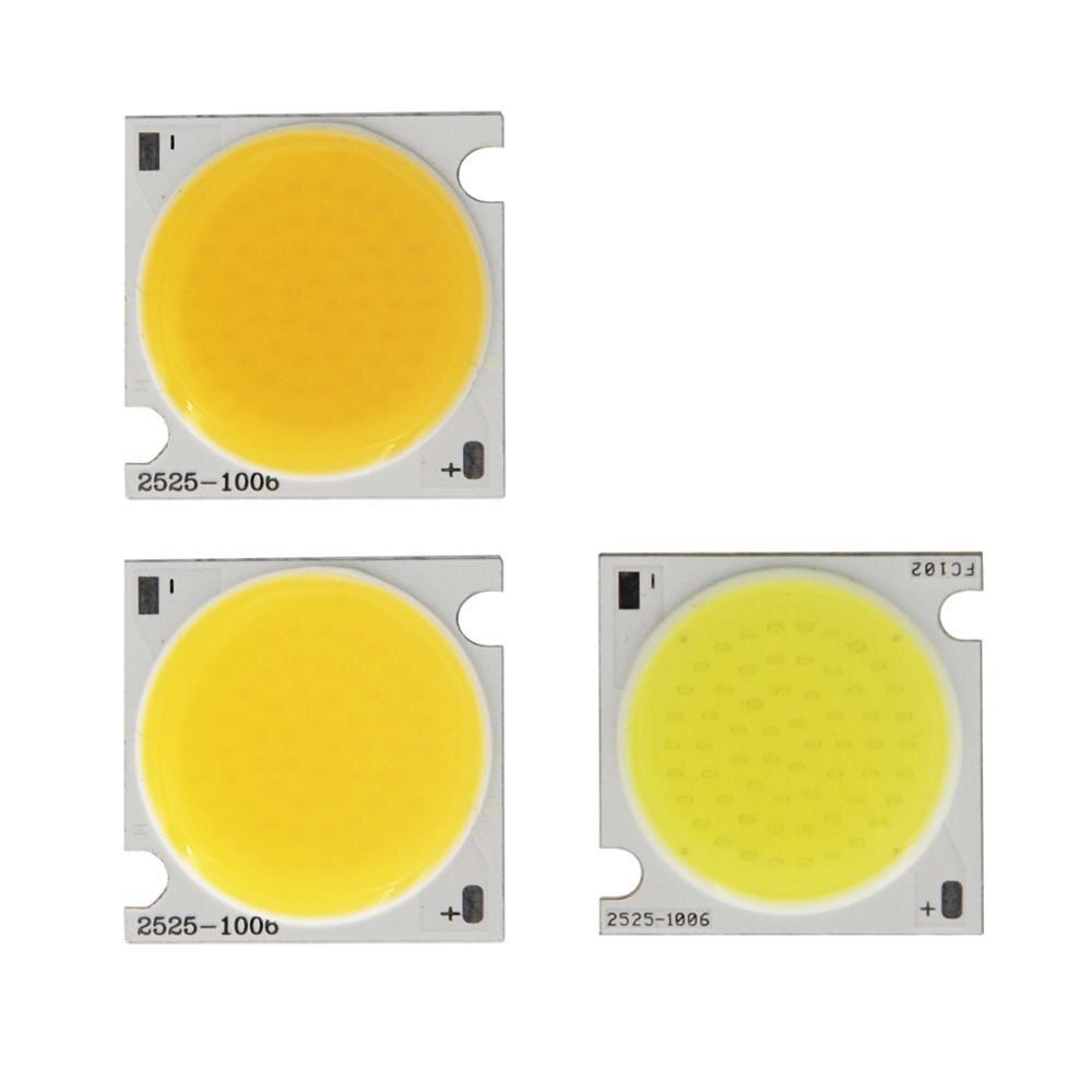 Купить с кэшбэком 10PCS manufacturer LED COB 25mm 20W 30W Square Flip chip High lumen Strip Light Source Module COB bulb lamp for downlight