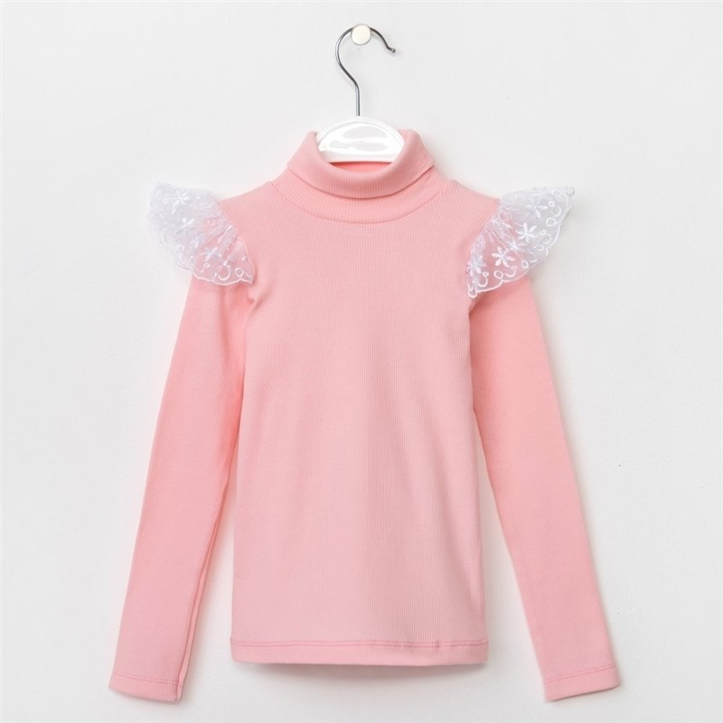Turtleneck baby KAFTAN color pink 5 8 years coat color pink