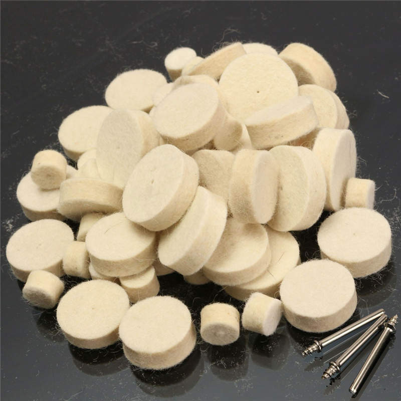 60PCS Soft Felt Wool Polishing Wheel Buffer Pad Mixed Set Tool For Dremel Rotary New Airrival