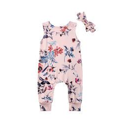 Новинка для маленьких девочек комбинезон летний комбинезон для новорожденного, для малыша для маленьких девочек с цветочным дизайном пом