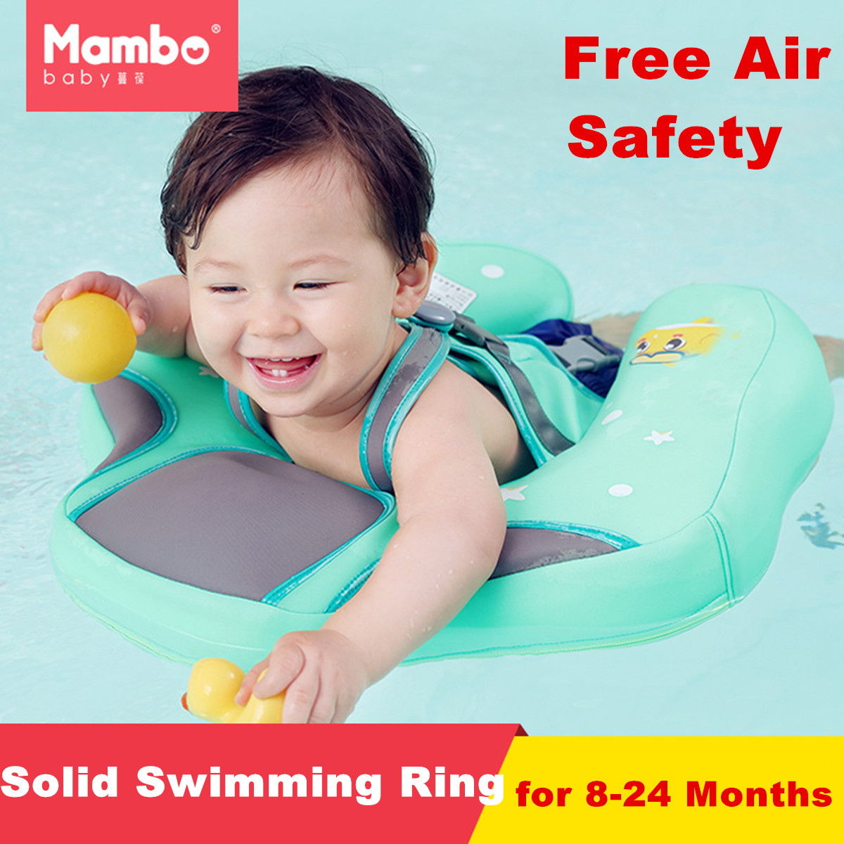 Kids Baby Swimming Ring Child Water Fun Toy Shower Swim Training for Bathtub Swimming Pools Armpits Inflatable Floats Protector