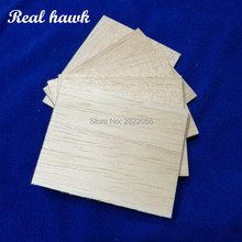 AAA+ Balsa Wood Sheets 120x100x2mm Model Balsa Wood for DIY RC model wooden plane boat material цены