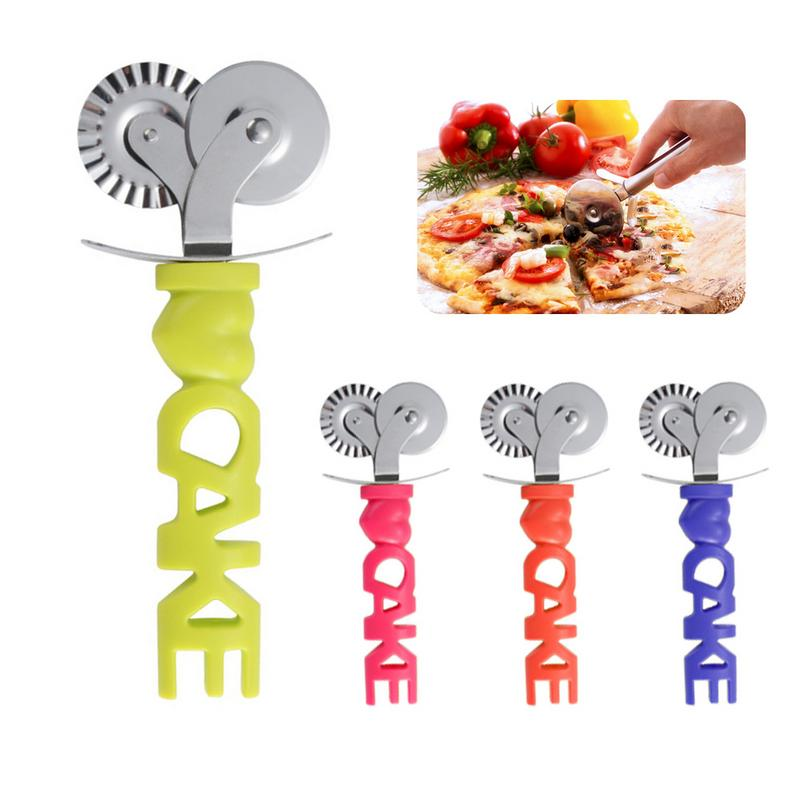 4 Colors  Pizza Cutter Stainless Steel Pizza Knife Cake Bread Pies Round Knife Cutter Pizza Tool Pizza Wheels Cooking Tool