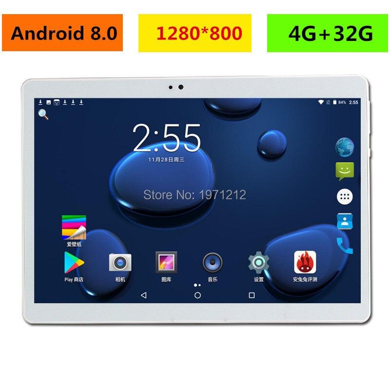 2019 Nouveau 10 pouce tablet PC Octa Core 4 gb RAM 32 gb ROM Android 8.0 WiFi Bluetooth Dual SIM cartes 3g 4g LTE Comprimés 10.1 + Cadeaux
