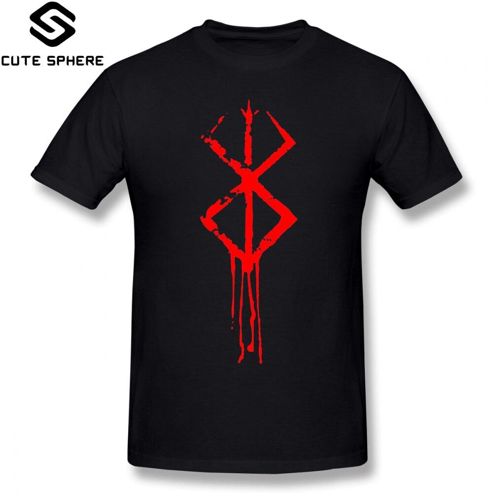 Berserk t camisa berserk marca de sacrifício camiseta homem impresso camiseta engraçado de manga curta mais tamanho 100 algodão casual tshirt