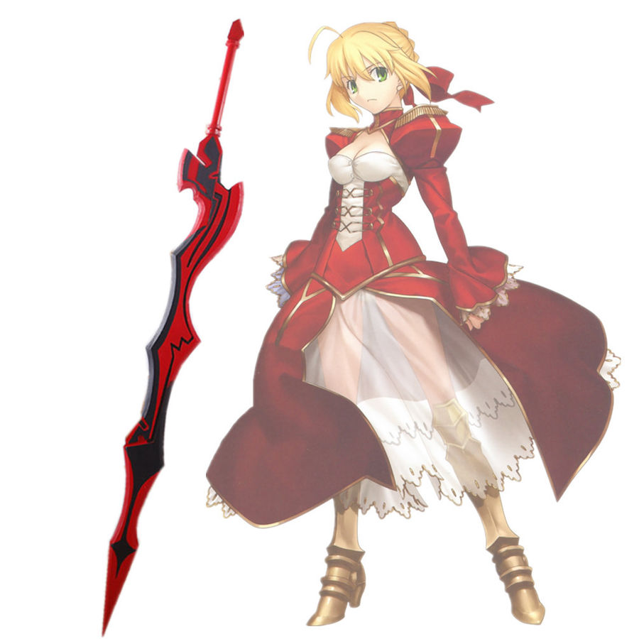 Fate EXTRA Last Encore Saber Nero Red sword Cosplay Weapon Prop