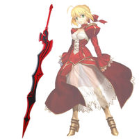 Fate/EXTRA Last Encore Saber Nero Red sword Cosplay Weapon Prop