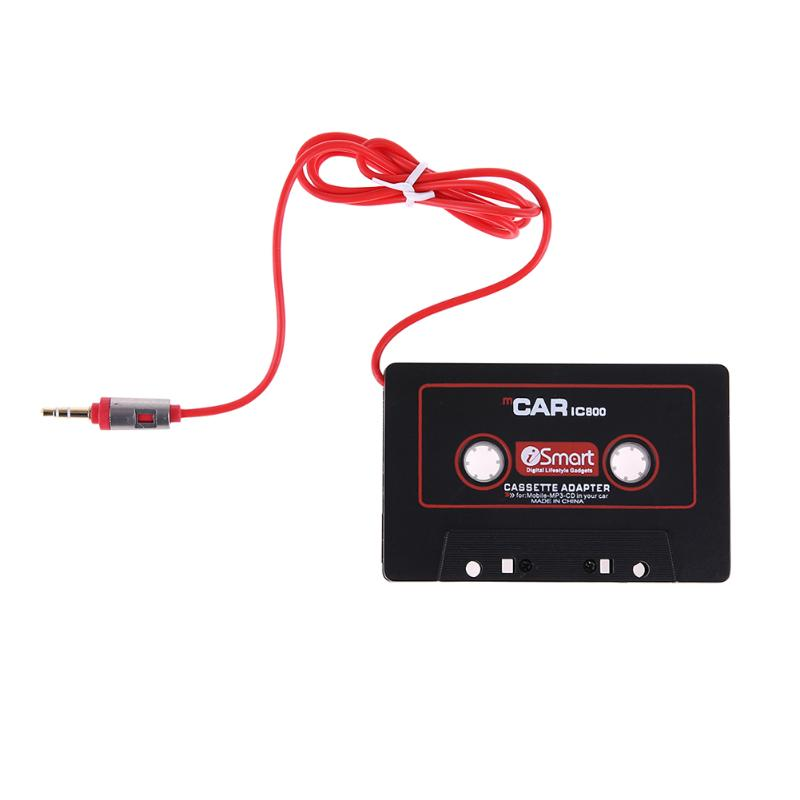 3.5mm Abs Plastic Black Jack Plug Car Cassette Tape Adapter Cassette Cable Ft Mp3 Player Converter Rapid Heat Dissipation