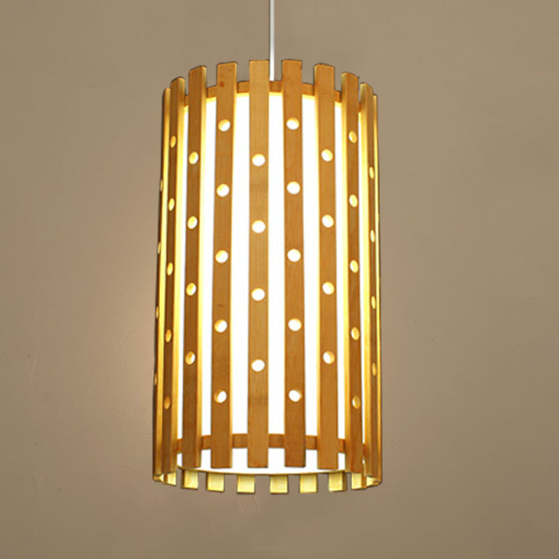 SETTEMBRE  Modern Hanglamps Wood Lamps Cylindrical Hollow Bamboo Pendant Lights Japanese Restaurant Pendant LightSETTEMBRE  Modern Hanglamps Wood Lamps Cylindrical Hollow Bamboo Pendant Lights Japanese Restaurant Pendant Light